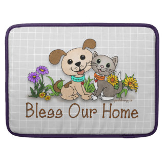BowWow and MeeYow (Pet Adoption-Humane Treatment) Sleeve For MacBook Pro