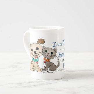 BowWow and MeeYow (Pet Adoption-Humane Treatment) Tea Cup