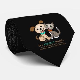 BowWow and MeeYow (Pet Adoption-Humane Treatment) Tie