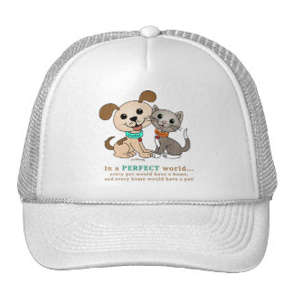BowWow and MeeYow (Pet Adoption-Humane Treatment) Trucker Hat