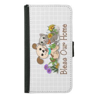 BowWow and MeeYow (Pet Adoption-Humane Treatment) Wallet Phone Case For Samsung Galaxy S5
