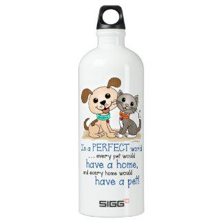 BowWow and MeeYow (Pet Adoption-Humane Treatment) Water Bottle