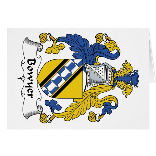 Bowyer Family Crest Card