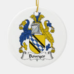 Bowyer Family Crest Christmas Ornaments