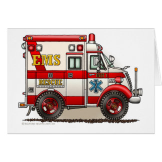 Box Ambulance EMS EMT Emergency Card