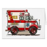 Box Ambulance EMS EMT Emergency Greeting Card