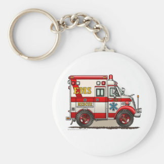 Box Ambulance EMS EMT Emergency Keychain