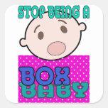 BOX BABY SQUARE STICKER