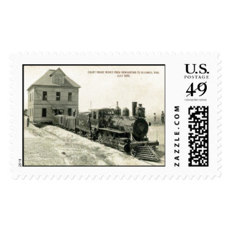 box butte county courthouse move 1899 - Copy Stamp