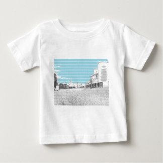 Box Cars at Grain Elevators Sketch Baby T-Shirt