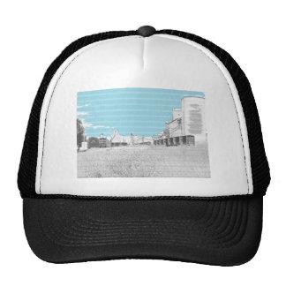 Box Cars at Grain Elevators Sketch Trucker Hat