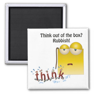 Box Cartoon think-out-of-the-box Magnet