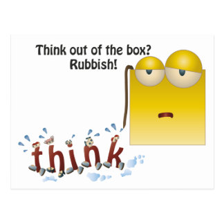 Out Of The Box Thinking Cards | Zazzle