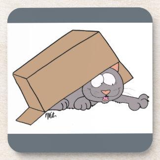 Box Cat Coaster Set