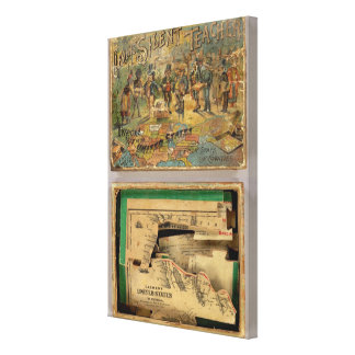 Box Dissected map, United States Canvas Print