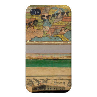 Box Dissected map, United States Case For iPhone 4