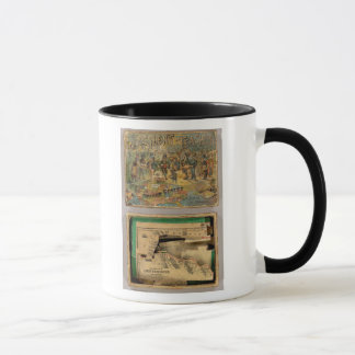 Box Dissected map, United States Mug