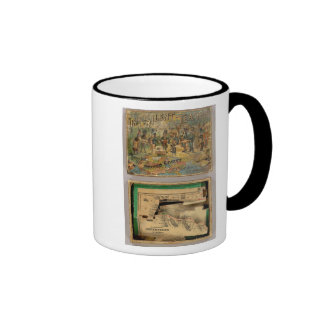 Box Dissected map, United States Ringer Mug