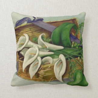 Box Easter Lily Throw Pillow