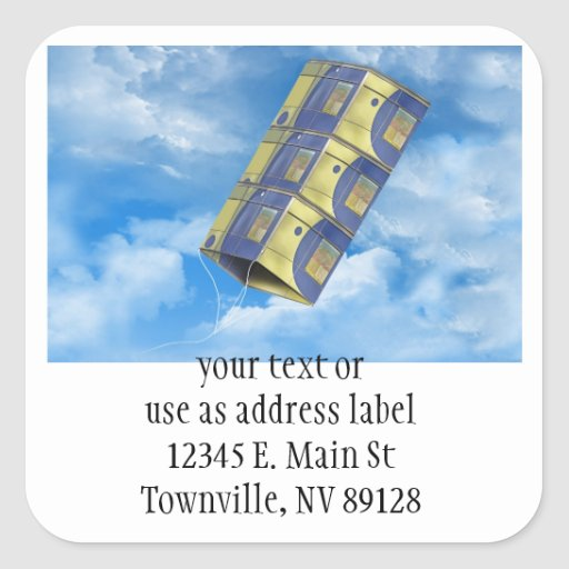 Box Kite in the Sky Square Stickers