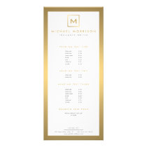 BOX LOGO with YOUR INITIAL/MONOGRAM in Faux Gold Rack Card