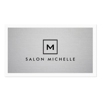 BOX LOGO with YOUR INITIAL on LIGHT GRAY LINEN Business Card