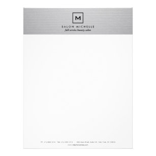 BOX LOGO With YOUR INITIAL On LIGHT GRAY LINEN Letterhead