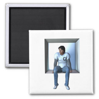 Box Man Refrigerator Magnets