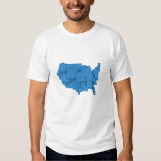 box map of USA Shirt