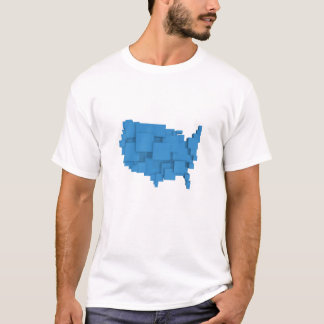 box map of USA Shirt