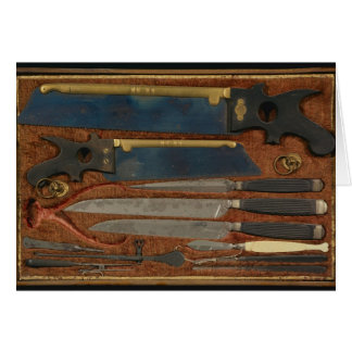 Box of anatomical instruments card