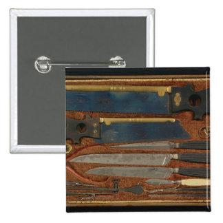 Box of anatomical instruments pinback button