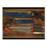 Box of anatomical instruments postcard
