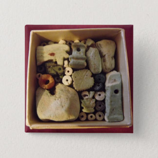 BOX OF ANCIENT EGYPTIAN AMULETS, BADGE PINBACK BUTTON