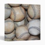 Box of Baseballs 3 Ring Binder
