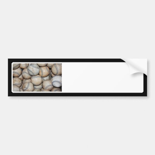 Box of Baseballs Bumper Sticker
