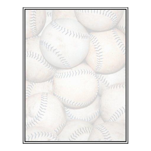 Box of Baseballs Custom Letterhead