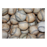 Box of Baseballs Large Business Card