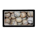 Box of Baseballs Personalized Shipping Label