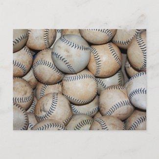 Box of Baseballs Postcards