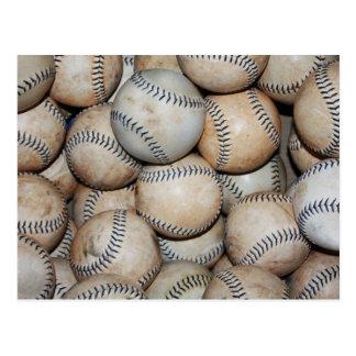 Box of Baseballs Postcard