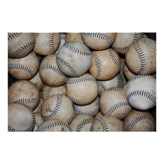 Box of Baseballs Poster