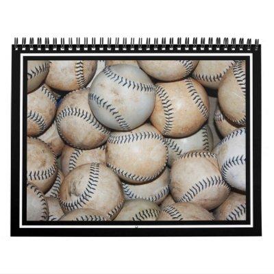 Box of Baseballs Wall Calendar