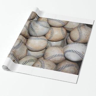 Box of Baseballs Wrapping Paper