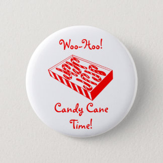 Box of Candy Canes Christmas Button