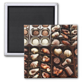 Box of Candy 2 Inch Square Magnet