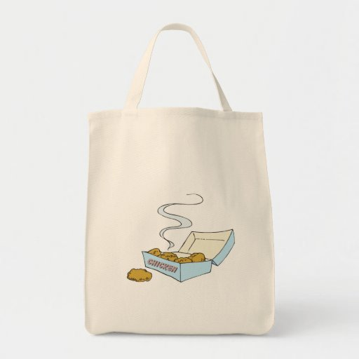 box of chicken nuggets grocery tote bag