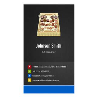 Box of Chocolate - Chocolatier Creative Innovative Double-Sided Standard Business Cards (Pack Of 100)