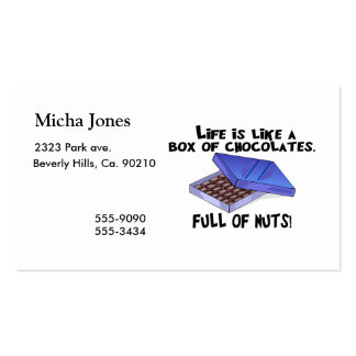 Box Of Chocolates Business Cards