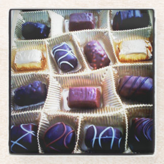 Box of Chocolates Glass Coaster